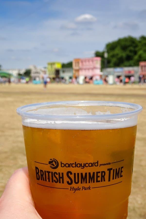 Londen, het Verenigd Koninkrijk 8 Juli, BST van de de Zomertijd van 2015 Brits Festival stock fotografie