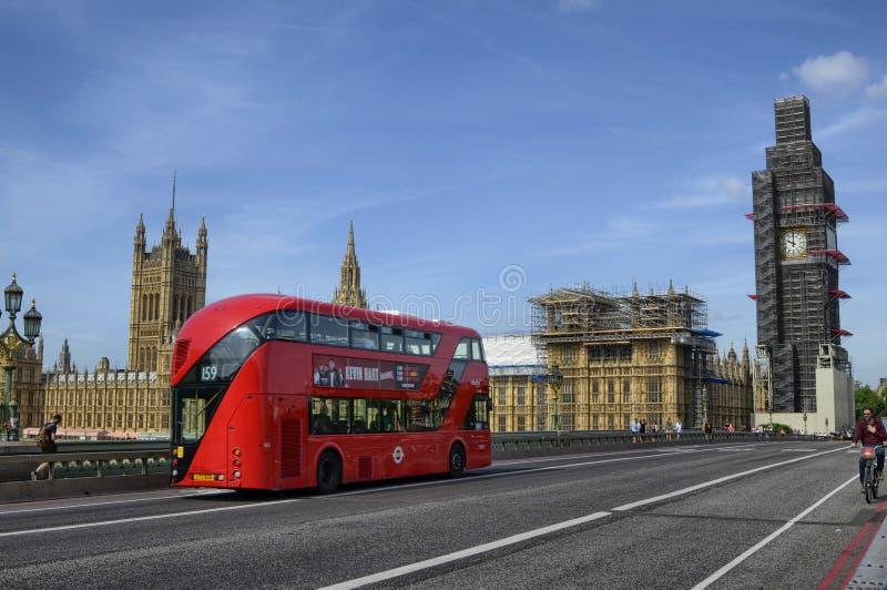 Londen, Huizen van het Parlement en de Big Ben stock foto's