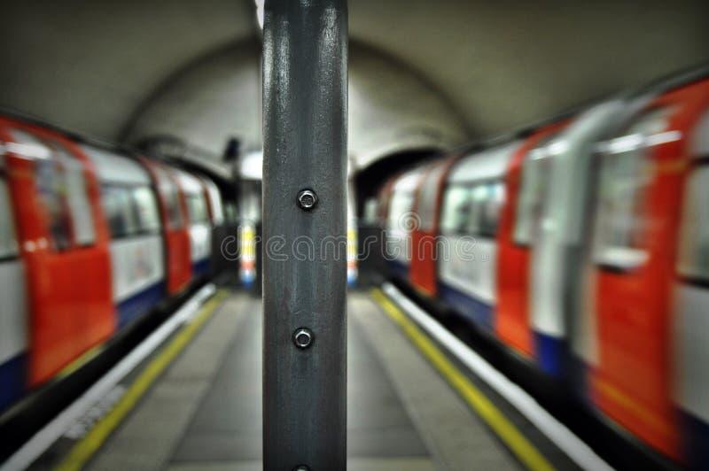 Londen leidt ondergronds Clapham-het Noorden op royalty-vrije stock fotografie