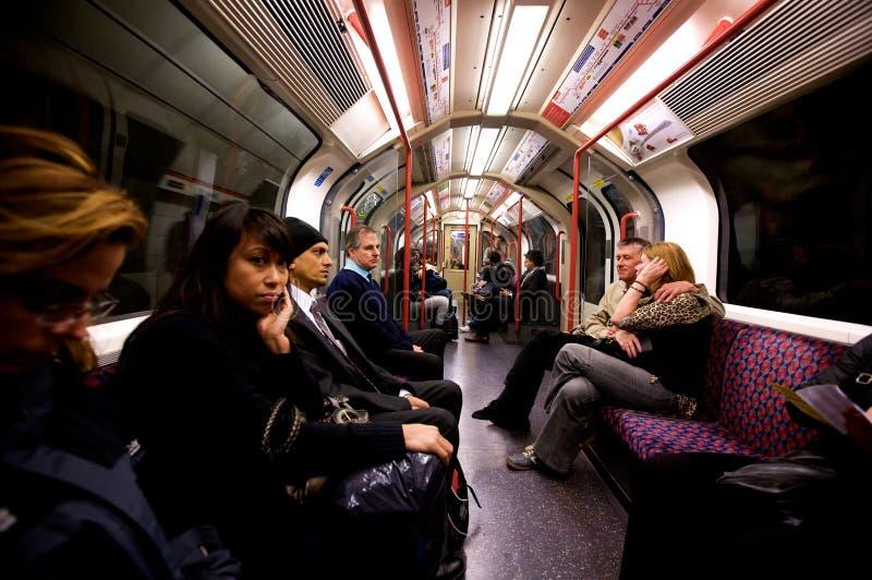 Londen ondergronds royalty-vrije stock foto's