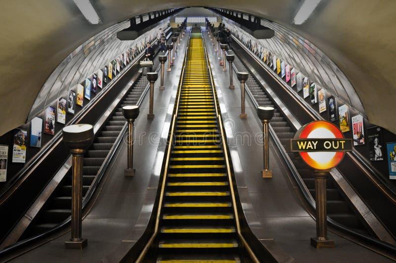 Londen ondergronds stock fotografie