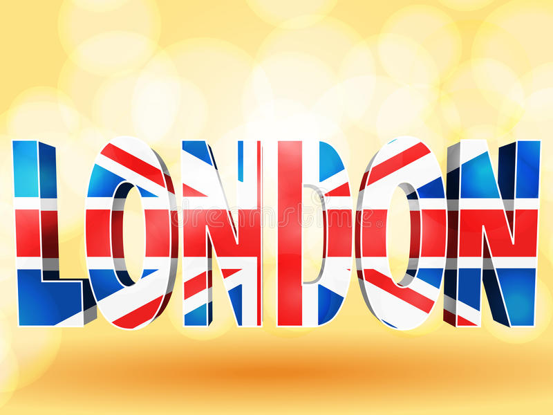Londen Union Jack stock illustratie