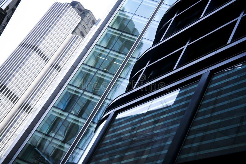 Londen van de de gebouwenarchitectuur van het bureau stad het UK stock afbeelding