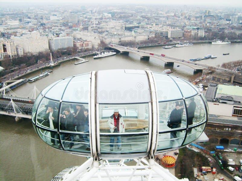 London öga - kapselturister fotografering för bildbyråer