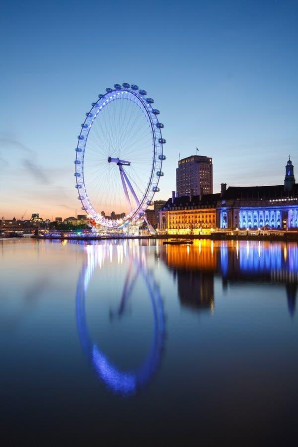 London öga, UK. arkivbilder