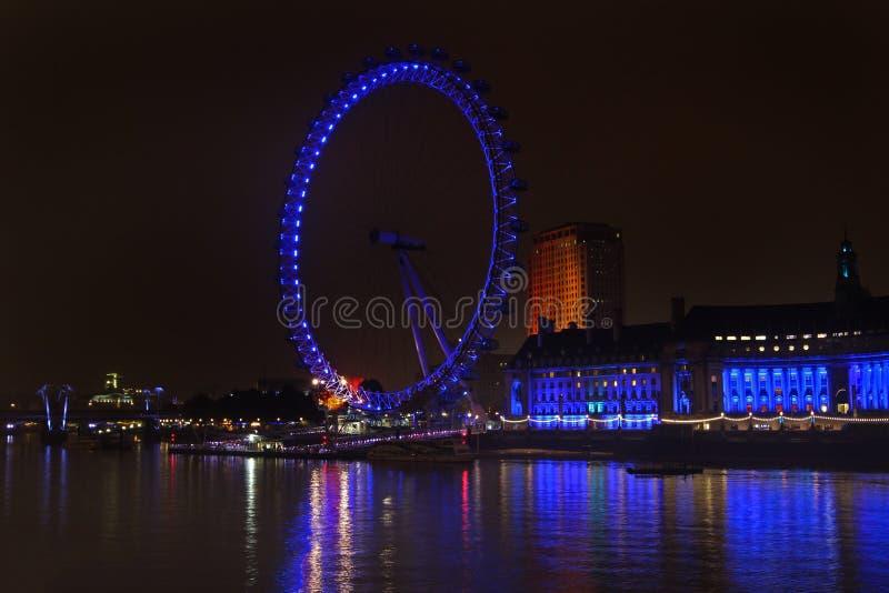 London ögonnatt arkivbild
