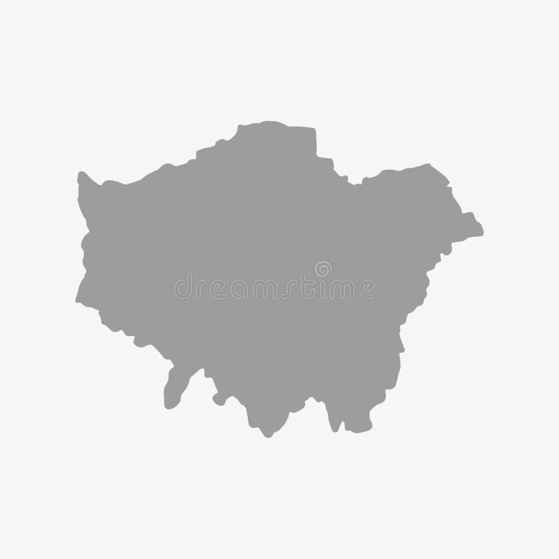 London översikt i grå färger på en vit bakgrund vektor illustrationer