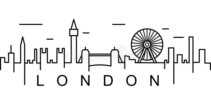 London översiktssymbol Kan användas för rengöringsduken, logoen, den mobila appen, UI, UX royaltyfria bilder