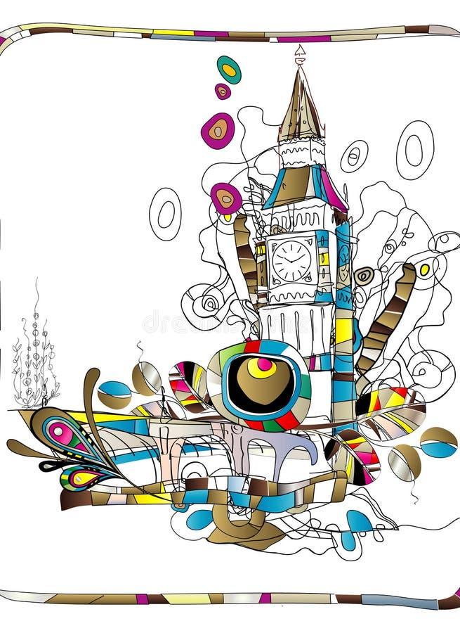 London. Art illustration of a Tower Bridge in London royalty free illustration