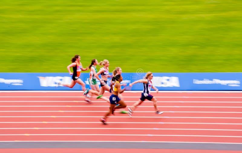 London 2012: motion blurred women s race