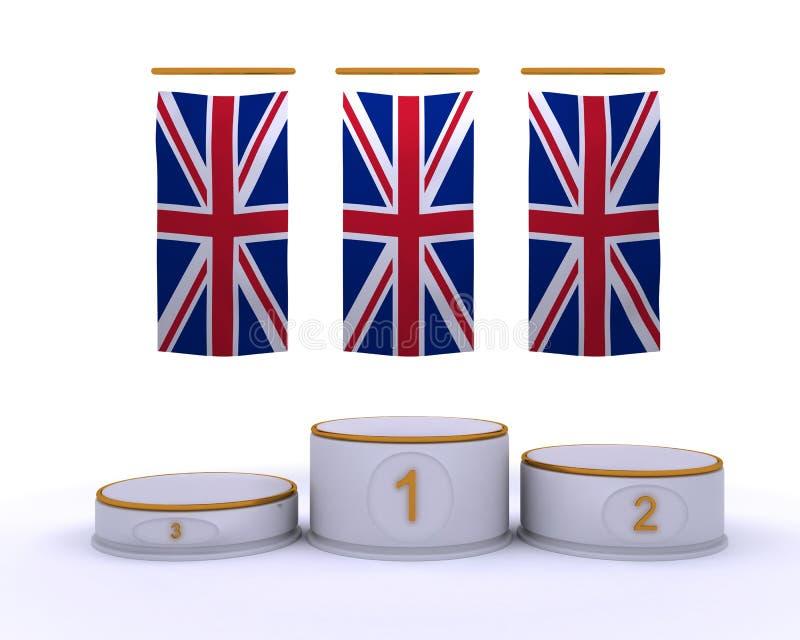London 2012 olympic championship podium vector illustration