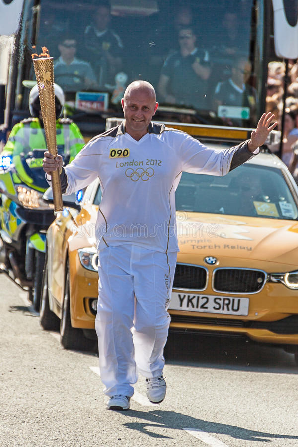London 2012 Olympic Torch Relay stock photo