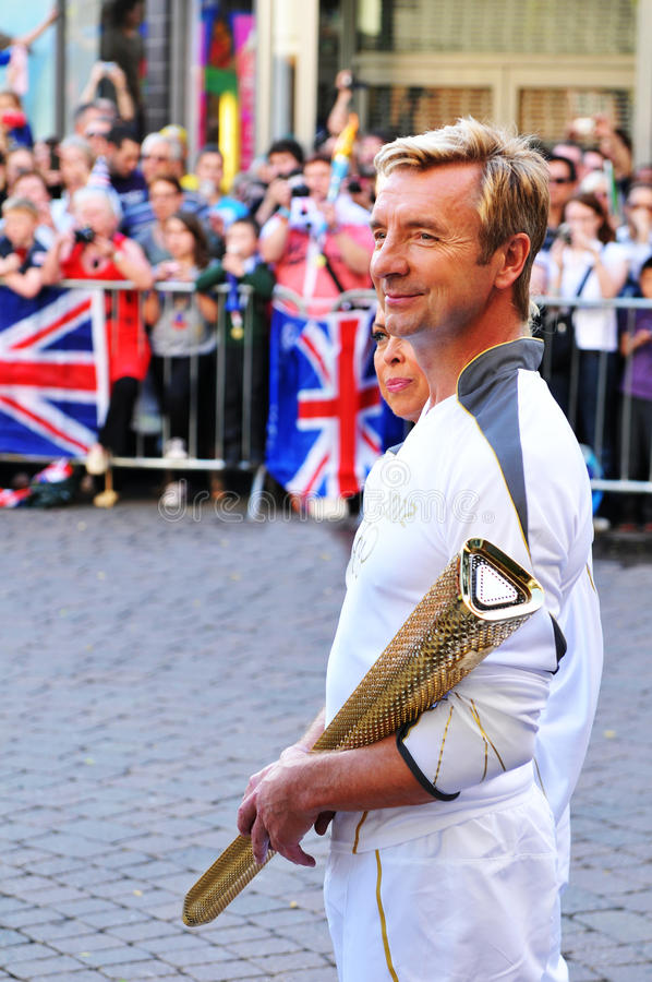 London 2012 Olympic Torch Relay Editorial Photography