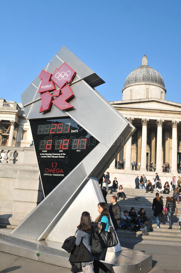 London 2012 Olympics countdown stock photography