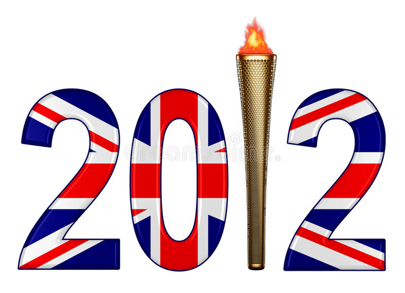 Download London 2012 Olympics And Torch Stock Illustration - Image: 25285018