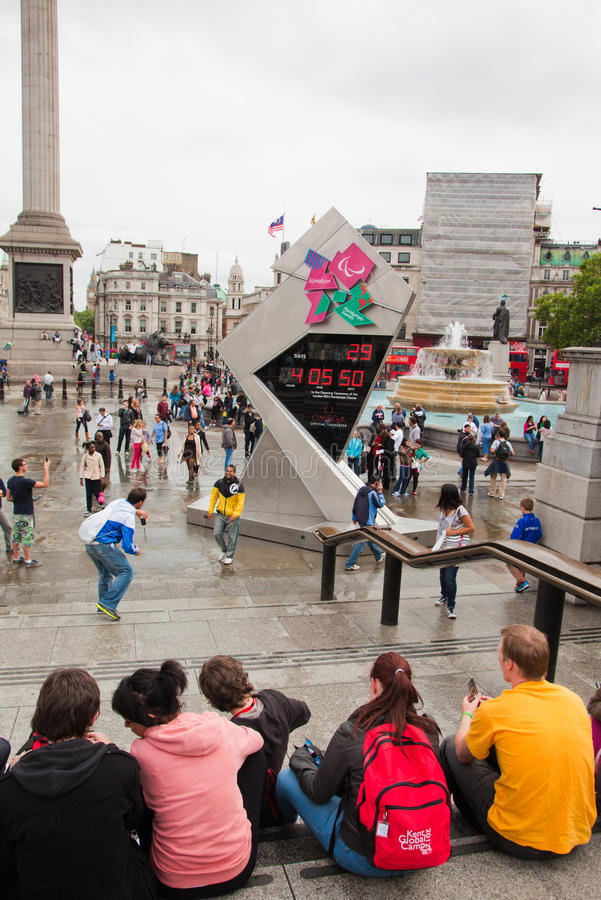 Download London 2012, Trafalgar Square Editorial Stock Image - Image: 26375569