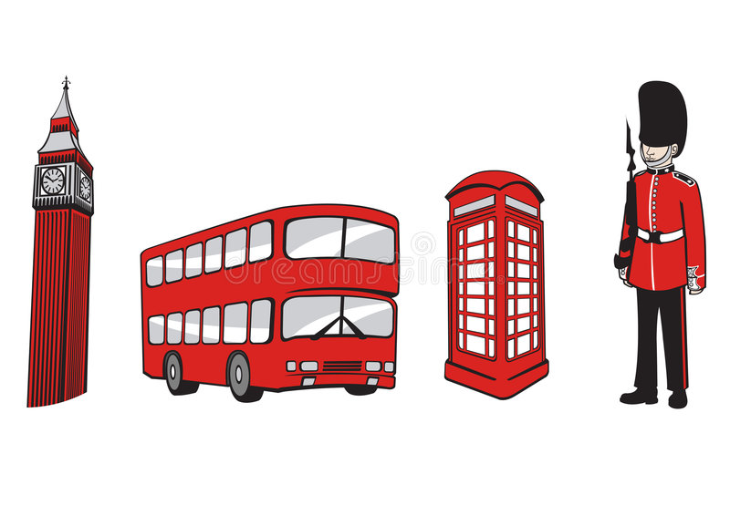 London. Vector illustration of All Over the World Travel icons . London Elements
