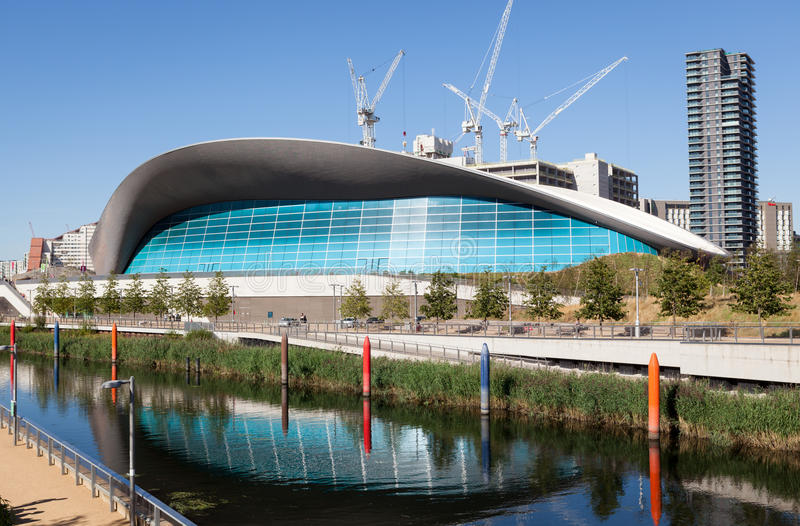 The london aquatics centre editorial stock image image of architecture river 77324879 for Stratford swimming pool timetable