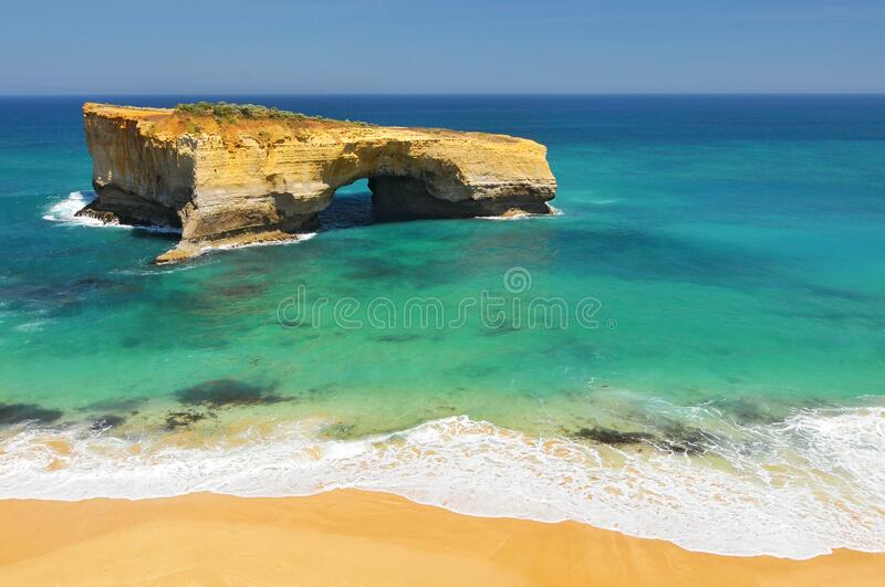 London Arch, natural arch formation in Port Campbell National Park. Great Ocean Road, Victoria State, South Australia.  royalty free stock photo