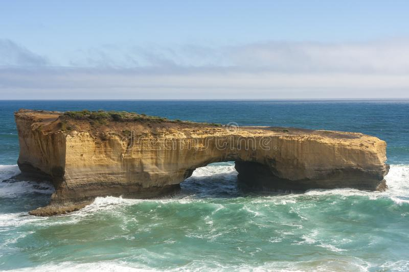 London Arch near Great Ocean Road , Port Campbell National Park, Australia stock photo