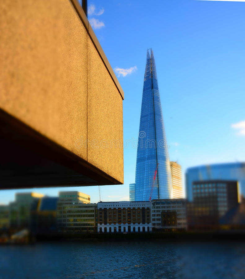 london architecture old and new with the shard editorial stock photo