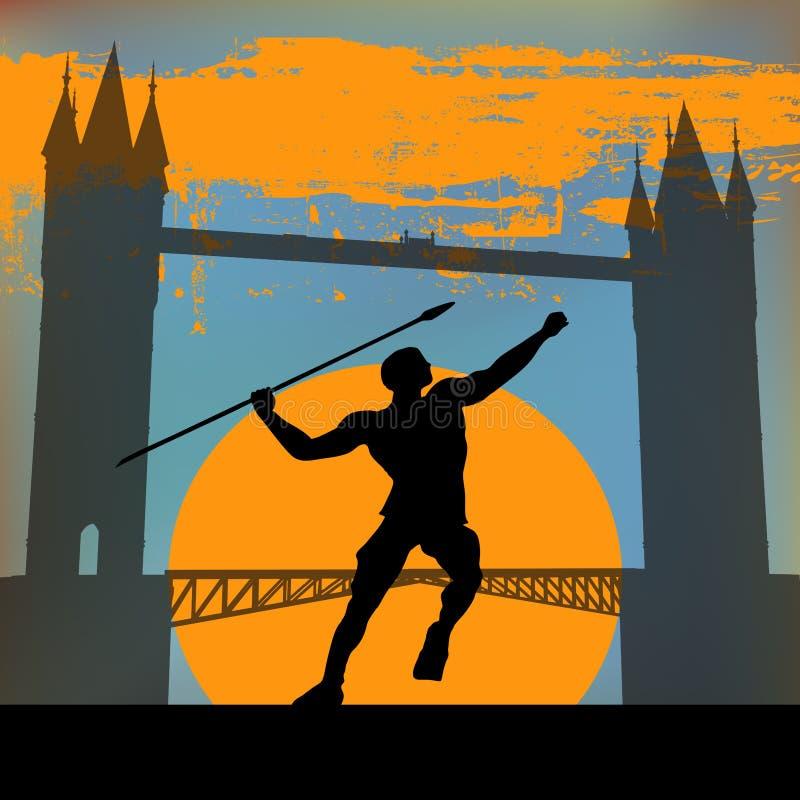 London-Athletik vektor abbildung