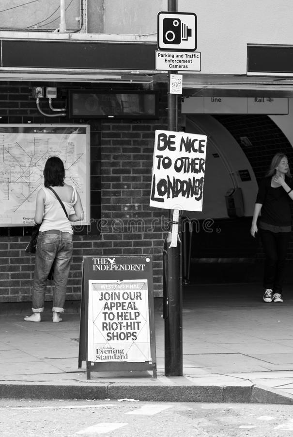 London-Aufstände lizenzfreies stockbild