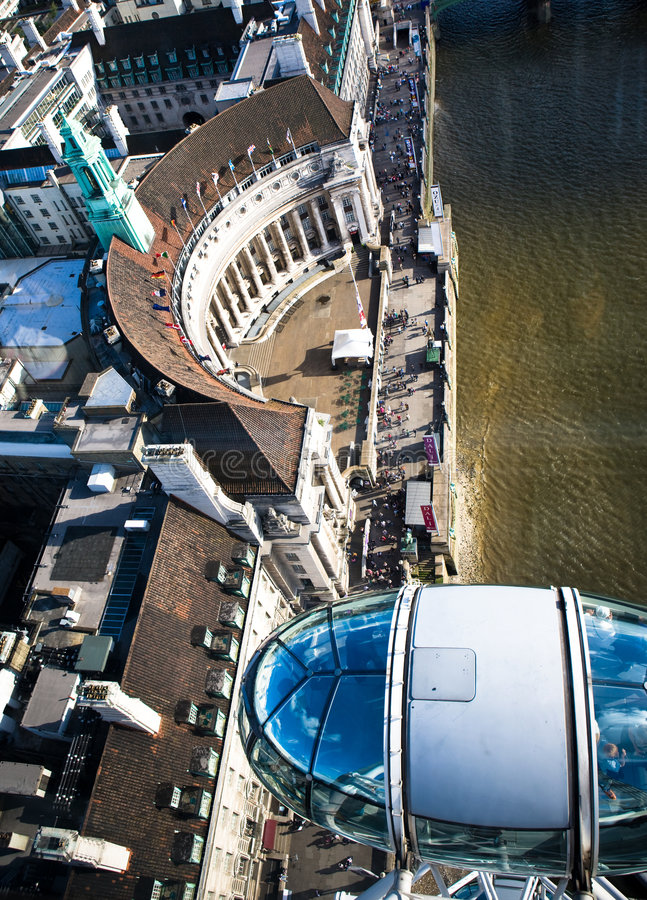 London-Auge lizenzfreie stockfotos