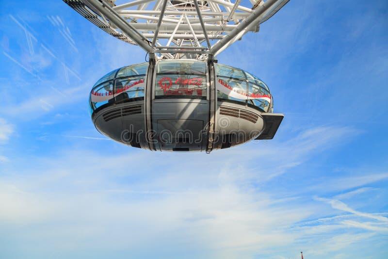 London-Auge ist höchste Riesenrad herein Europa, Vereinigtes Königreich stockfotografie