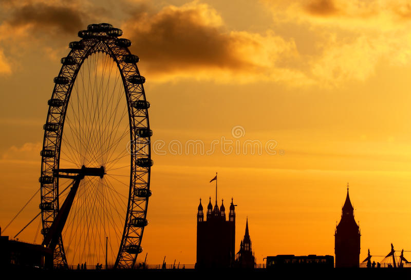 London-Auge in London stockbilder