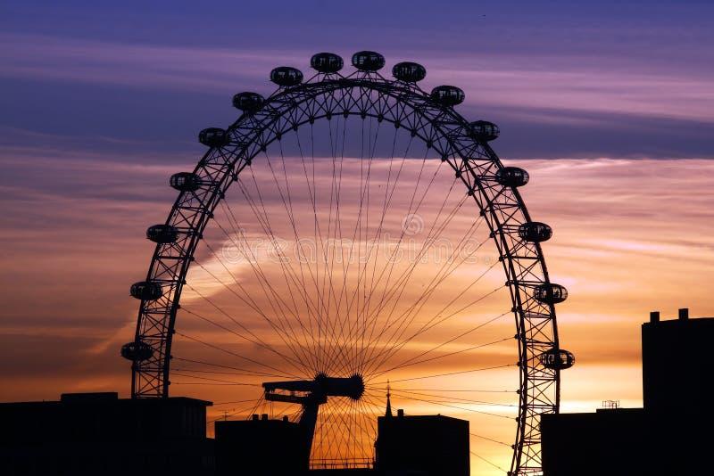 London-Auge in London lizenzfreie stockbilder