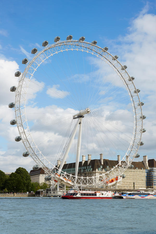 London-Auge, Riesenrad herein einen sonnigen Sommertag stockfoto