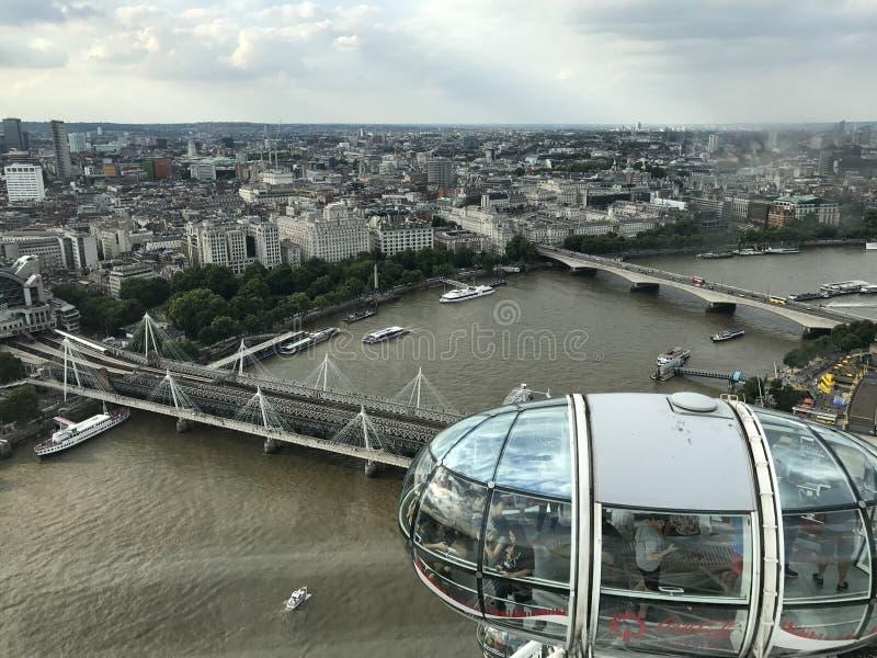 London-Augen lizenzfreie stockfotos