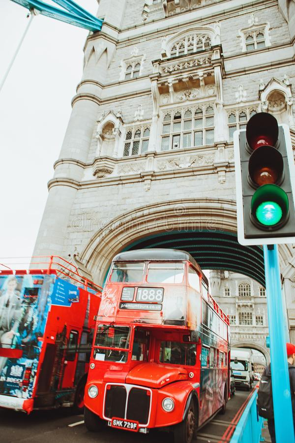 LONDON - AUGUST 21, 2017: Tower Bridge in London, UK. royalty free stock photography