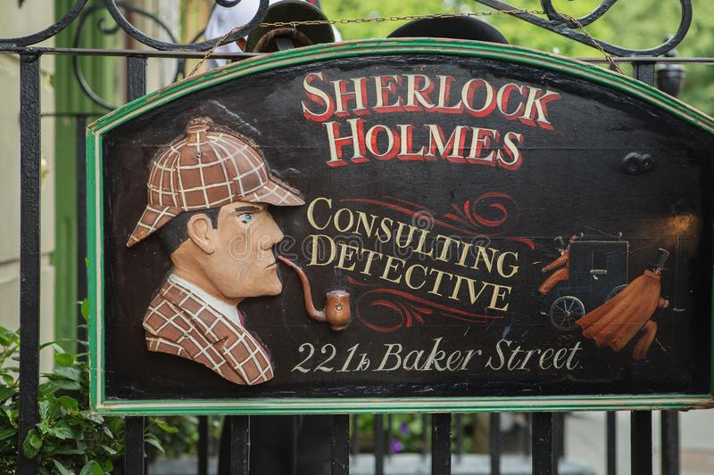 LONDON - AUGUST 24, 2017: The Sherlock Holmes museum. royalty free stock image