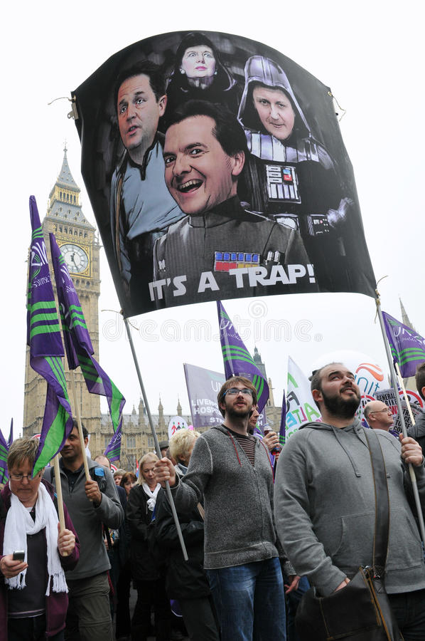 Download London Austerity Protest editorial photo. Image of activists - 26477286