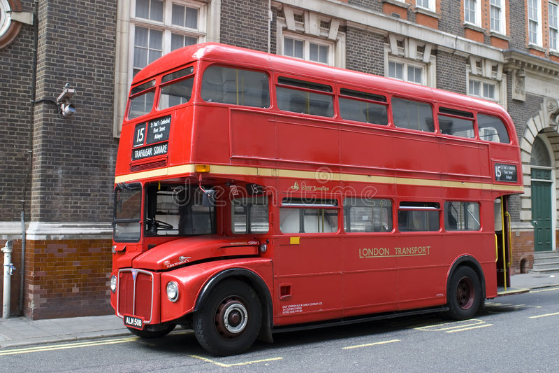 London autobusowa czerwony zdjęcie stock
