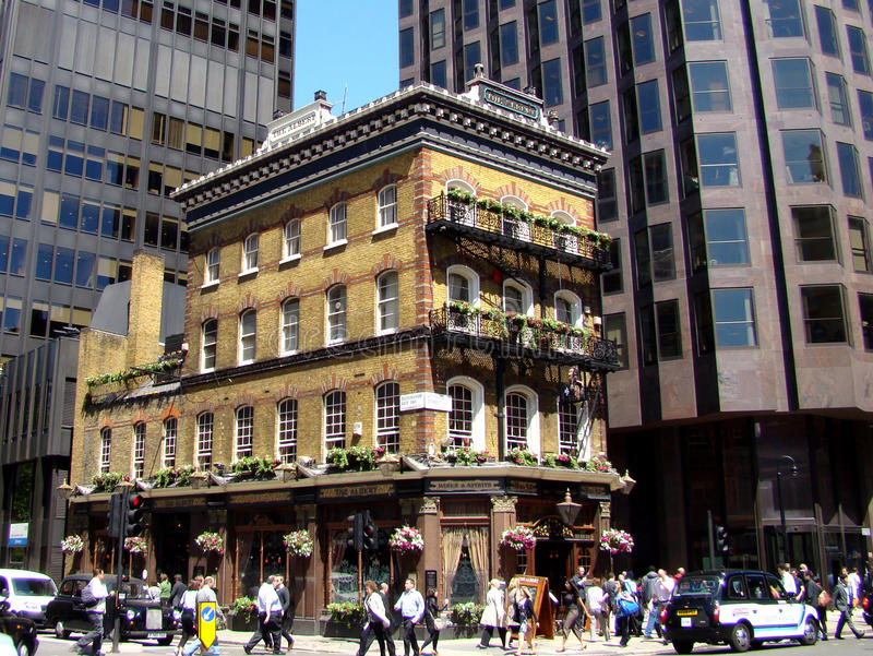 london bajrakowaty pub zdjęcie stock