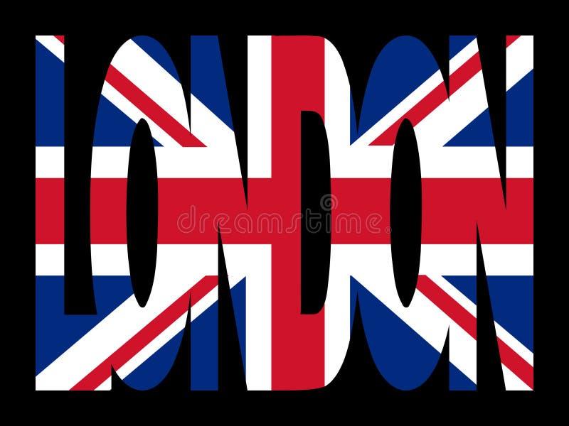 London bandery tekst royalty ilustracja