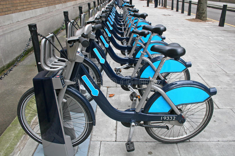 London bicycles stock photography