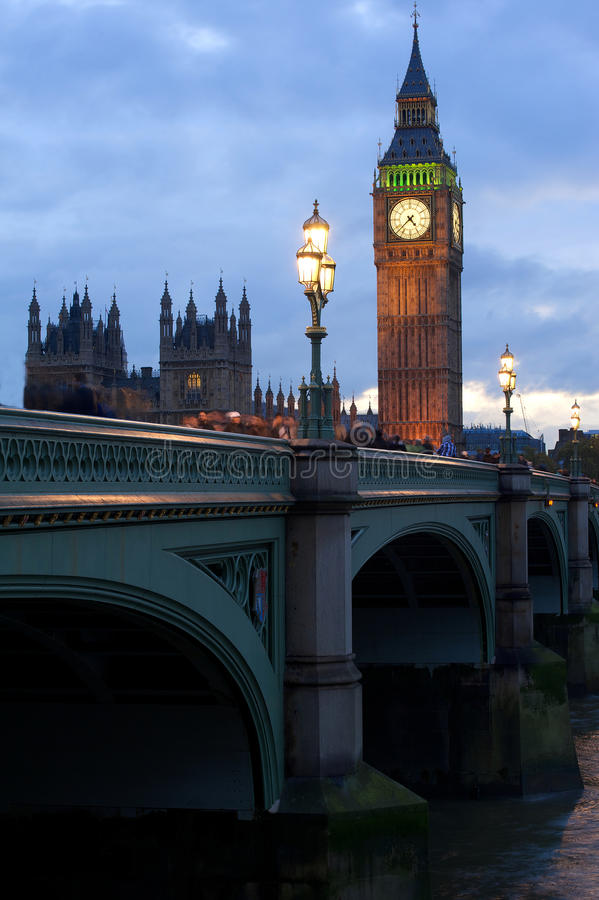 London, big ban. Big Ben in the evening, London, UK royalty free stock image