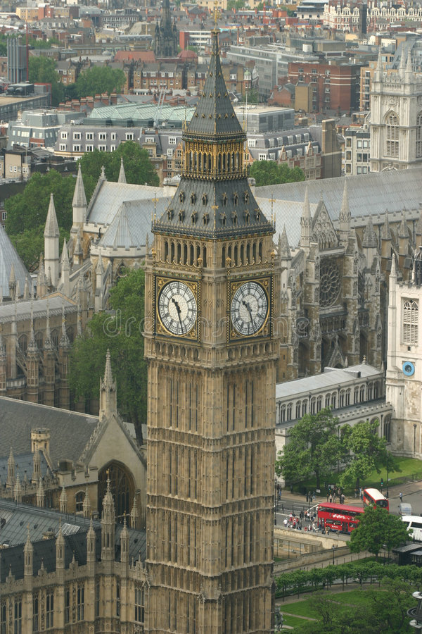 London Big Ben. And the city stock image