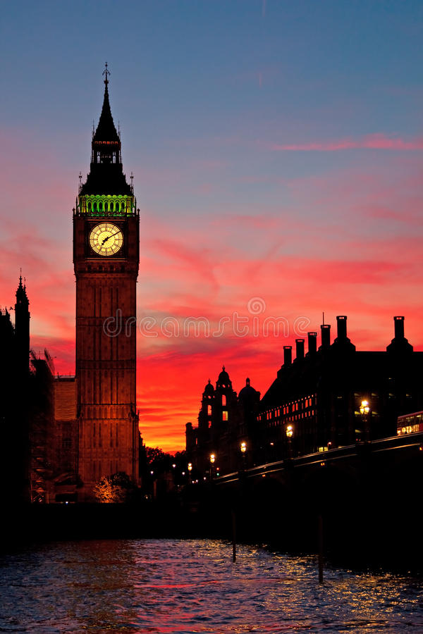London. Big Ben clock tower.