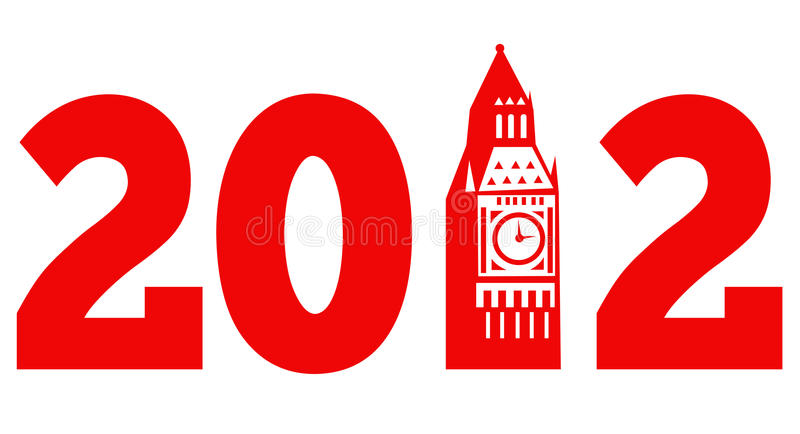 London Big Ben Clock Tower 2012 stock illustration