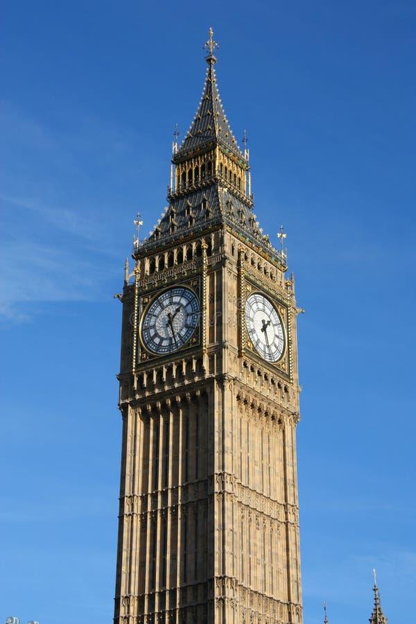 London Big Ben. Big Ben clock tower - landmark of London, UK stock photo