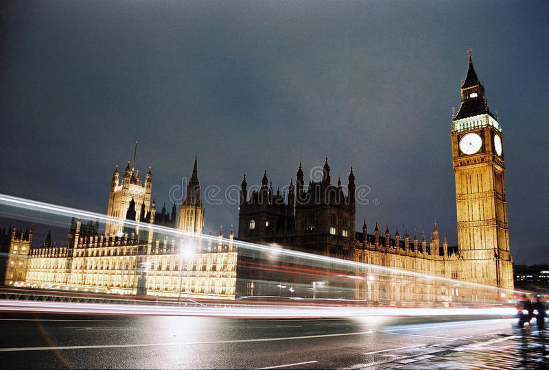 London, Big Ben And Houses Of Parliament At Night Editorial Photo
