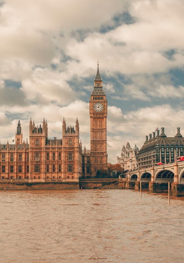 London - Big ben and houses of parliament stock photo