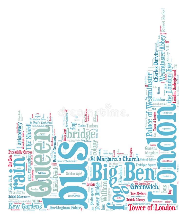 London Big Ben kontur royaltyfri illustrationer