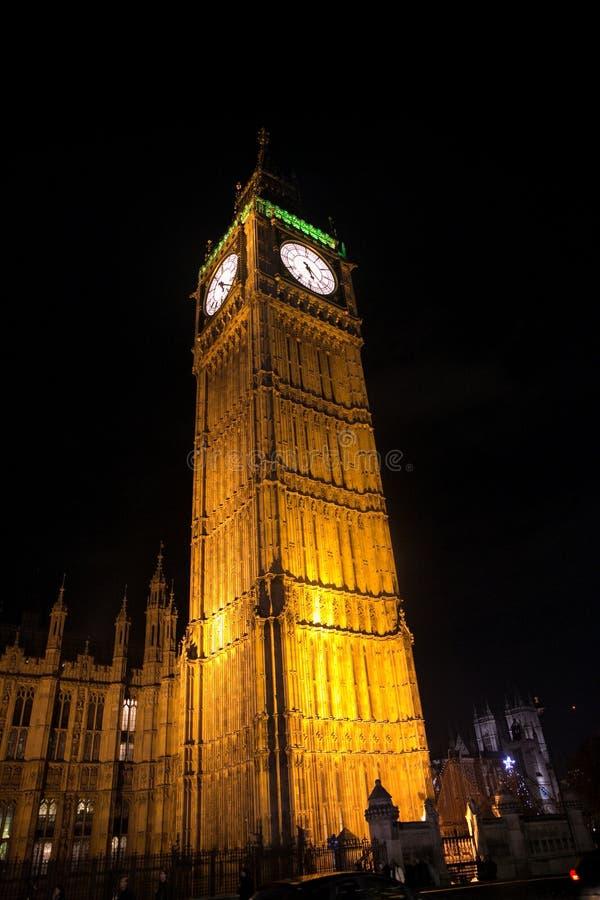 London Big Ben at night. London Big Ben illuminated royalty free stock photo