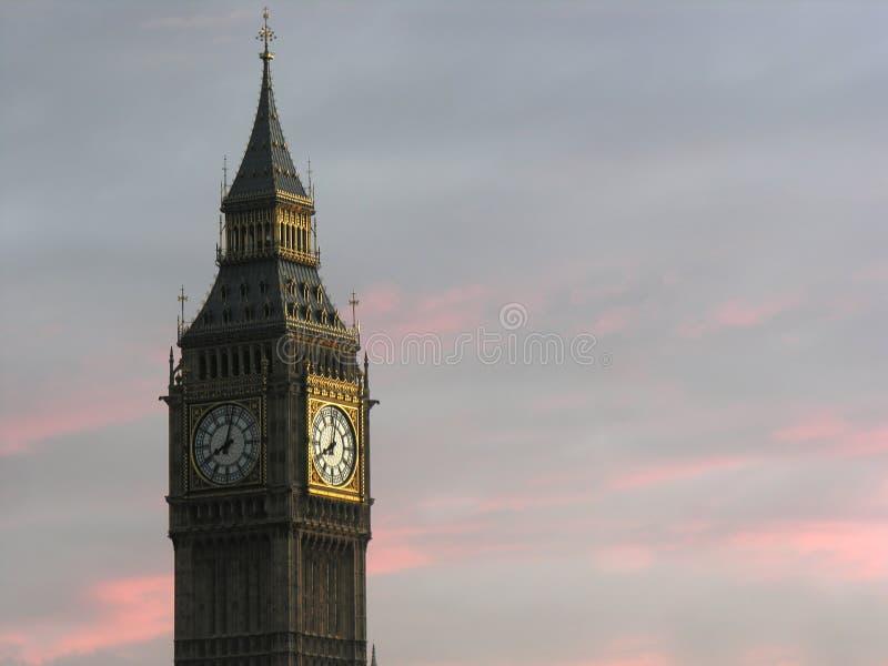 London- big ben tower clock stock image